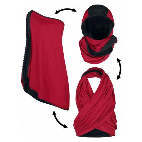 Black Premium by EMP Rot/schwarzer Multifunktionsschal Scarf bordeaux black