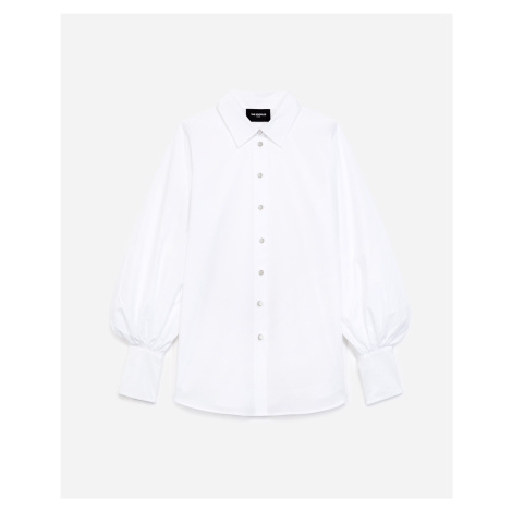 The Kooples - White cotton shirt with puffed sleeves - WOMEN