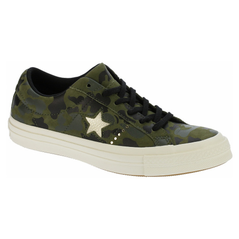 shoes Converse One Star Nubuck OX - 159703/Herbal/Light Gold/Egret