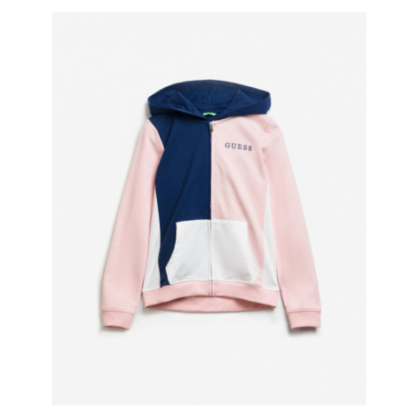 Guess Colorblock Kids Sweatshirt Blue Pink