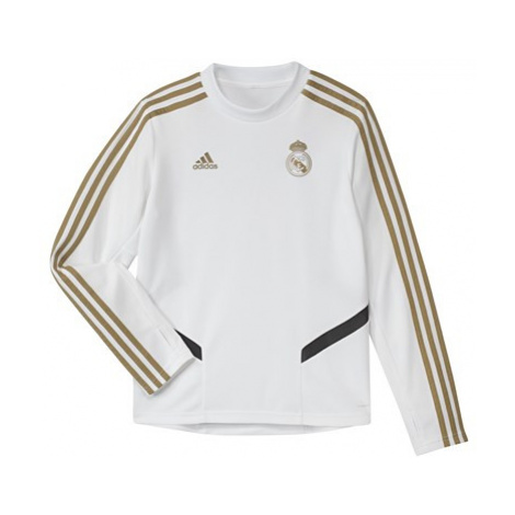 Real Madrid LS Training Top - White - Kids Adidas
