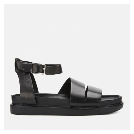 Vagabond Women's Erin Leather Flat Sandals - Black - UK
