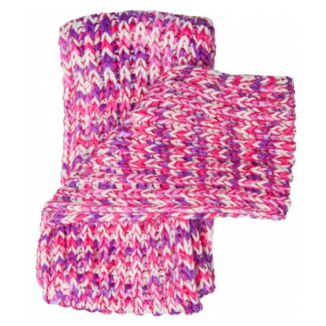 Lewro BIBURELA purple - Girls' knitted scarf