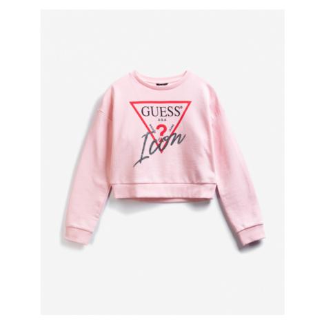 Guess Active Icon Kids Sweatshirt Pink