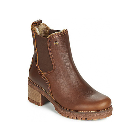 Panama Jack PIA women's Low Ankle Boots in Brown
