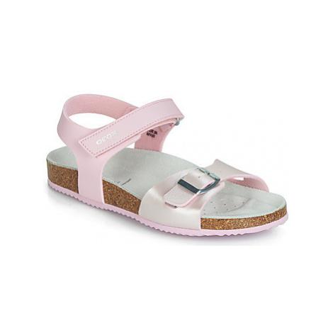 Geox J NEW SANDAL ALOHA G girls's Children's Sandals in Pink
