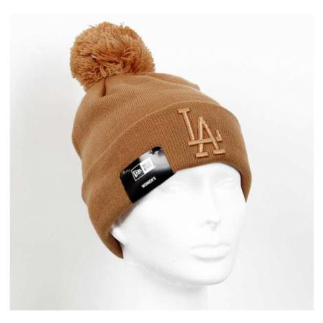 New Era Womens MLB Leafgue Essential Bobble Cuff Knit Brown