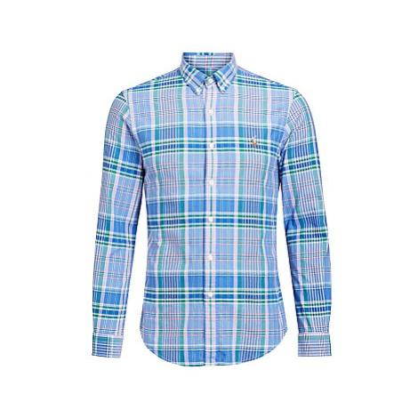 Polo Ralph Lauren Slim Fit Plaid Oxford Shirt, Blue Plaid