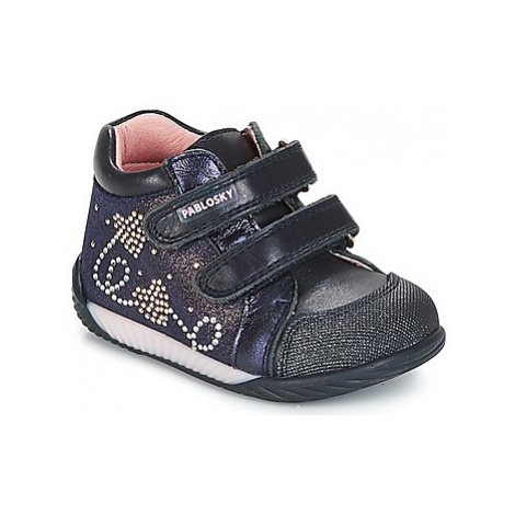 Pablosky BECRO girls's Children's Shoes (High-top Trainers) in Blue