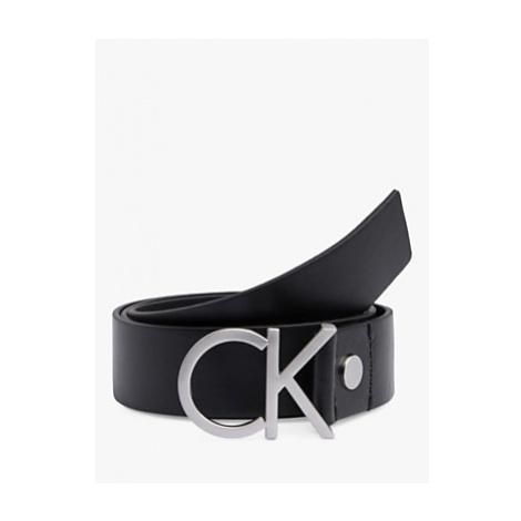 Calvin Klein Adjustable Leather Belt, Black
