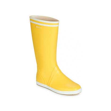 Aigle GOELAND men's Wellington Boots in Yellow