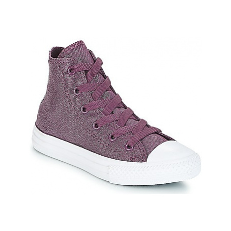 Converse CHUCK TAYLOR ALL STAR HI girls's Children's Shoes (High-top Trainers) in Purple