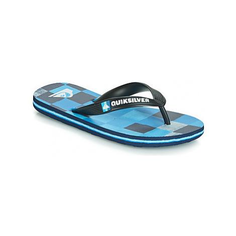 Quiksilver MOLOKAI RESIN CKECK YT B SNDL XKBB girls's Children's Flip flops / Sandals in Black