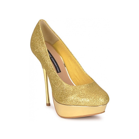 French Connection JEZABEL women's Court Shoes in Gold