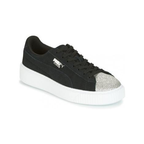 Puma SUEDE PLATFORM GLAM JR women's Shoes (Trainers) in Black
