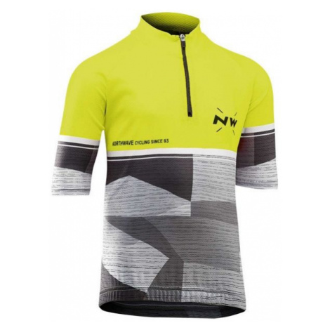 Northwave ORIGIN JR yellow - Children's cycling jersey North Wave