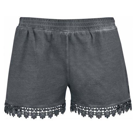 Black Premium by EMP - Hot Pants with Lace - Girls shorts - black