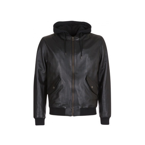 Chevignon MIGHTY men's Leather jacket in Black