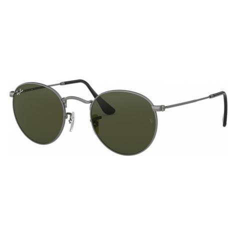 Ray-Ban Round metal Unisex Sunglasses Lenses: Green, Frame: Gunmetal - RB3447 029 53-21