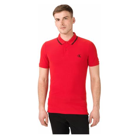 Calvin Klein Essentials Polo shirt Red