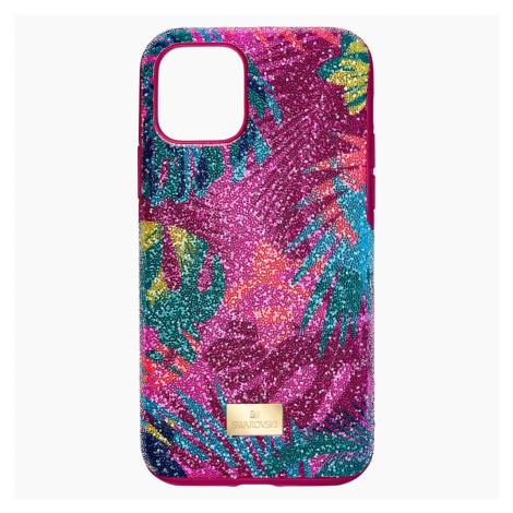 Tropical Smartphone Case with Bumper, iPhone® 11 Pro, Dark multi-coloured Swarovski