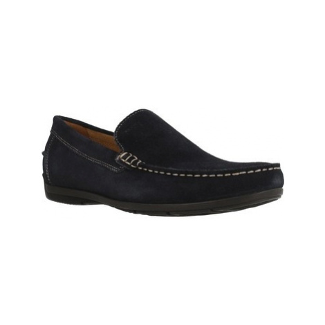 Geox U SIM0N A women's Loafers / Casual Shoes in Blue