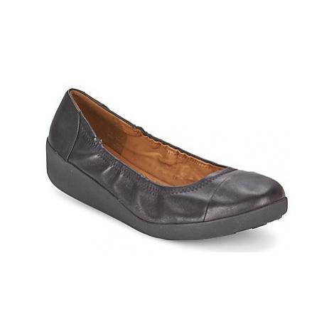 FitFlop FF2™ F-POP™ BALLERINA women's Shoes (Pumps / Ballerinas) in Black
