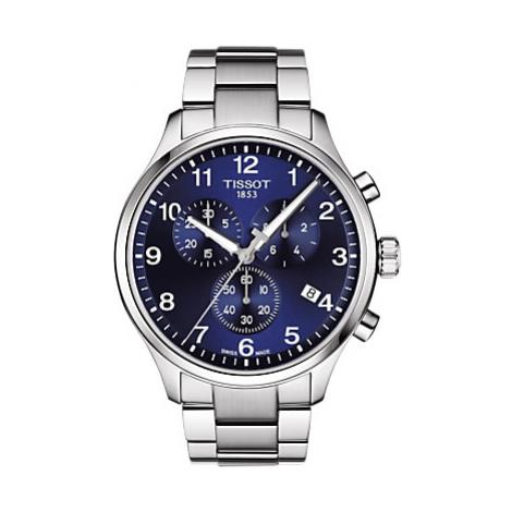 Tissot T1166171104701 Men's Chrono XL Classic Chronograph Date Bracelet Strap Watch, Silver/Blue