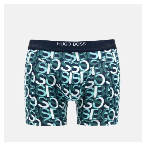 BOSS Bodywear Men's Print Boxer Briefs Two Pack - Open Blue Hugo Boss