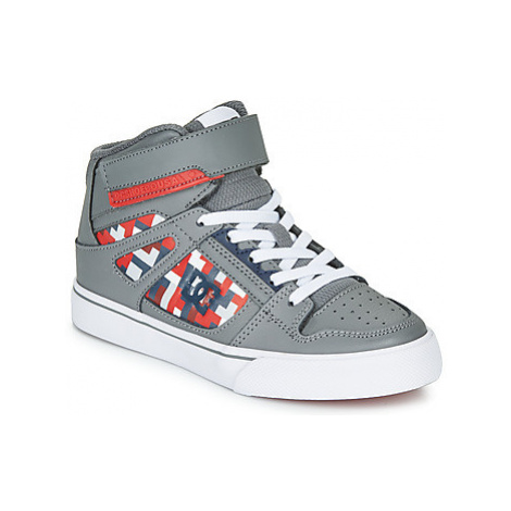DC Shoes PURE HIGH-TOP SE EV girls's Children's Shoes (High-top Trainers) in Grey