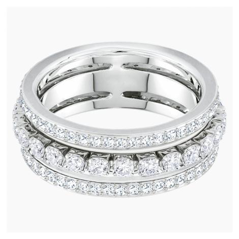 Further Ring, White, Rhodium plated Swarovski