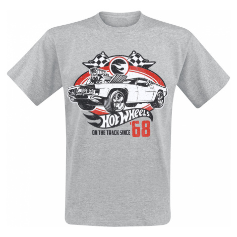 Hot Wheels - On The Track Since '68 - T-Shirt - mottled grey