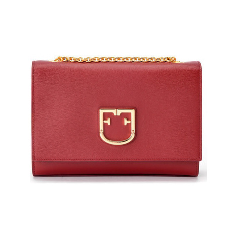 Furla Viva S shoulder bag in cherry leather women's Shoulder Bag in Red