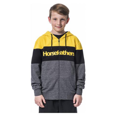 sweatshirt Horsefeathers Trevor Zip - Lemon - boy´s