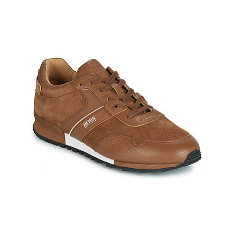 BOSS PARKOUR RUNN SDTB men's Shoes (Trainers) in Brown Hugo Boss