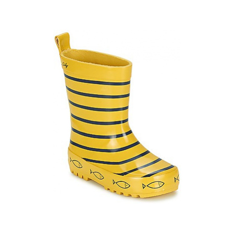 Be Only TIMOUSS girls's Children's Wellington Boots in Yellow
