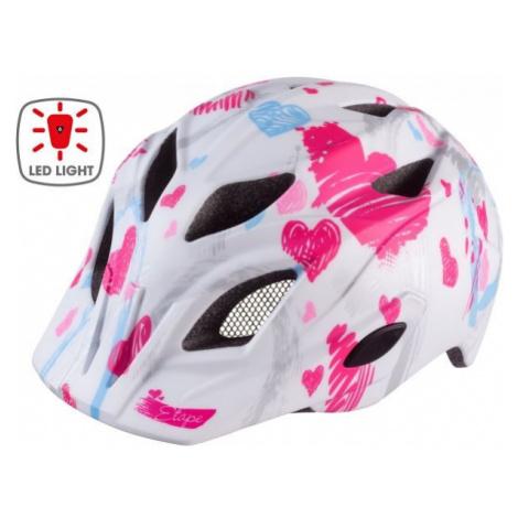 Etape PLUTO LIGHT white - Kids' cycling helmet