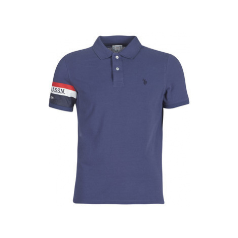 U.S Polo Assn. USPA LOGO POLO men's Polo shirt in Blue U.S. Polo Assn