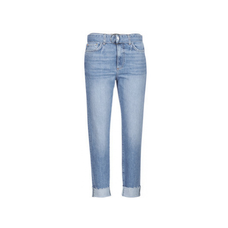 Guess THE IT GIRL SKINNY BELT women's Cropped trousers in Blue