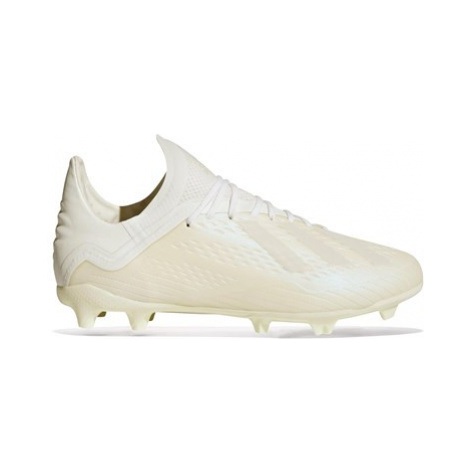 Adidas X 18.1 Firm Ground Football Boots - White - Kids