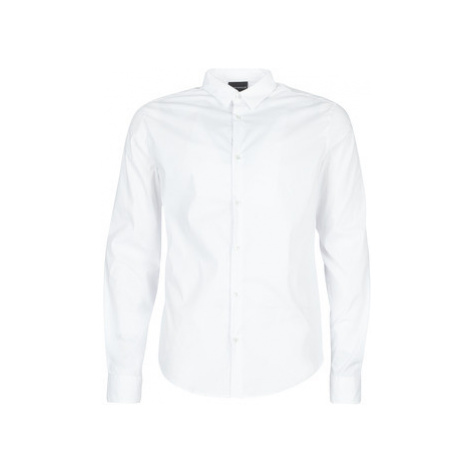 Emporio Armani 6G1C09-1N6RZ-0100 men's Long sleeved Shirt in White