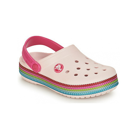 Crocs CROCBAND SEQUIN BAND CLOG K girls's Children's Clogs (Shoes) in Pink