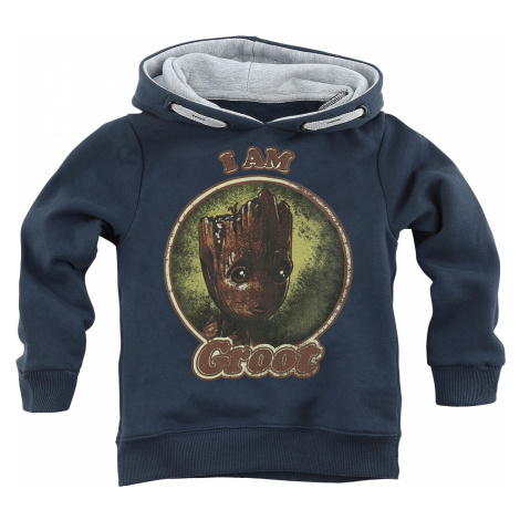 Guardians Of The Galaxy - I Am Groot - Kids Hooded Sweater - navy