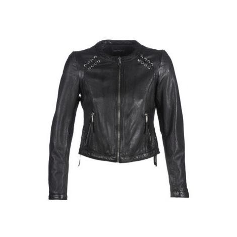 Oakwood FLEX women's Leather jacket in Black