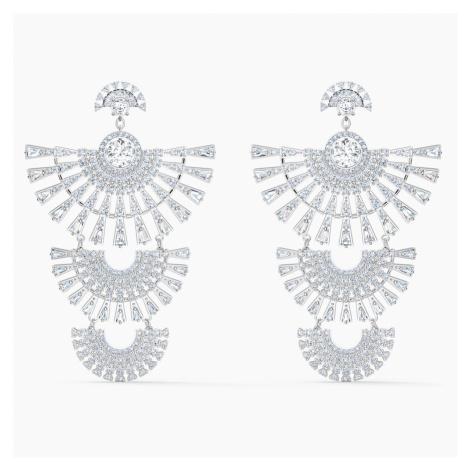 Swarovski Sparkling Dance Dial Up Pierced Earrings, White, Rhodium plated