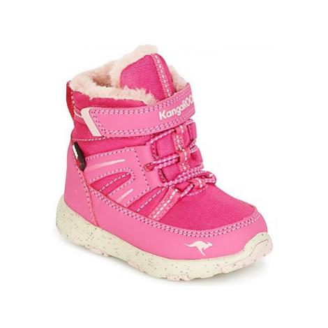 Pink girls' snow boots