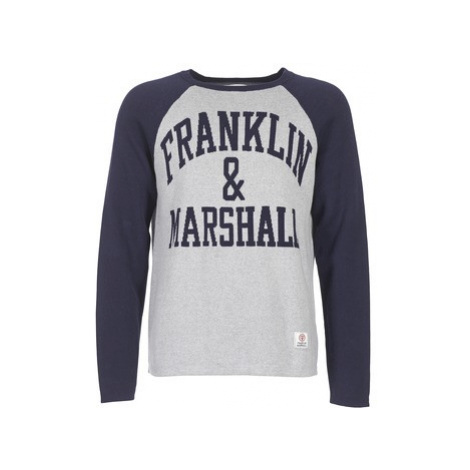 Franklin Marshall HOUI men's Sweater in Grey Franklin & Marshall