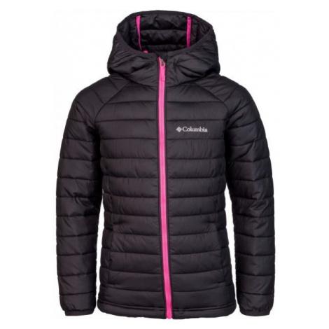 Columbia POWDER LITE GIRLS HOODED JACKET black - Girls' jacket