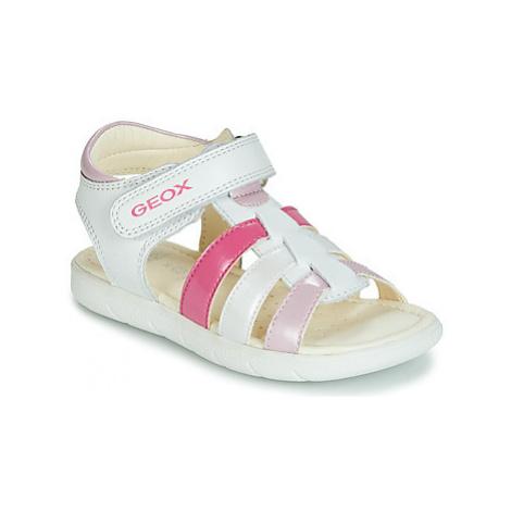 Geox B SANDAL ALUL GIRL girls's Children's Sandals in White