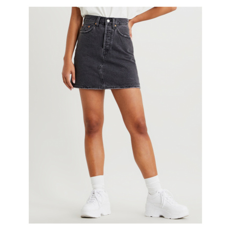 Levi's® High-waisted Deconstructed Skirt Black Levi´s